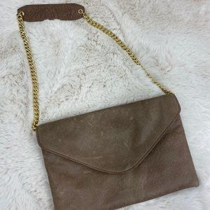 NWOT J. Crew Envelope Clutch with Chain Strap